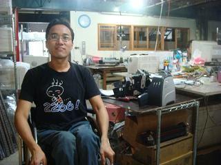 工廠廠員、身心障礙朋友─小杜,巫亦桓攝影。