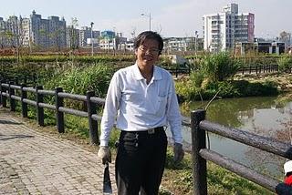 現任溼地志工保育班隊長林金山先生。傅紹宇/攝影